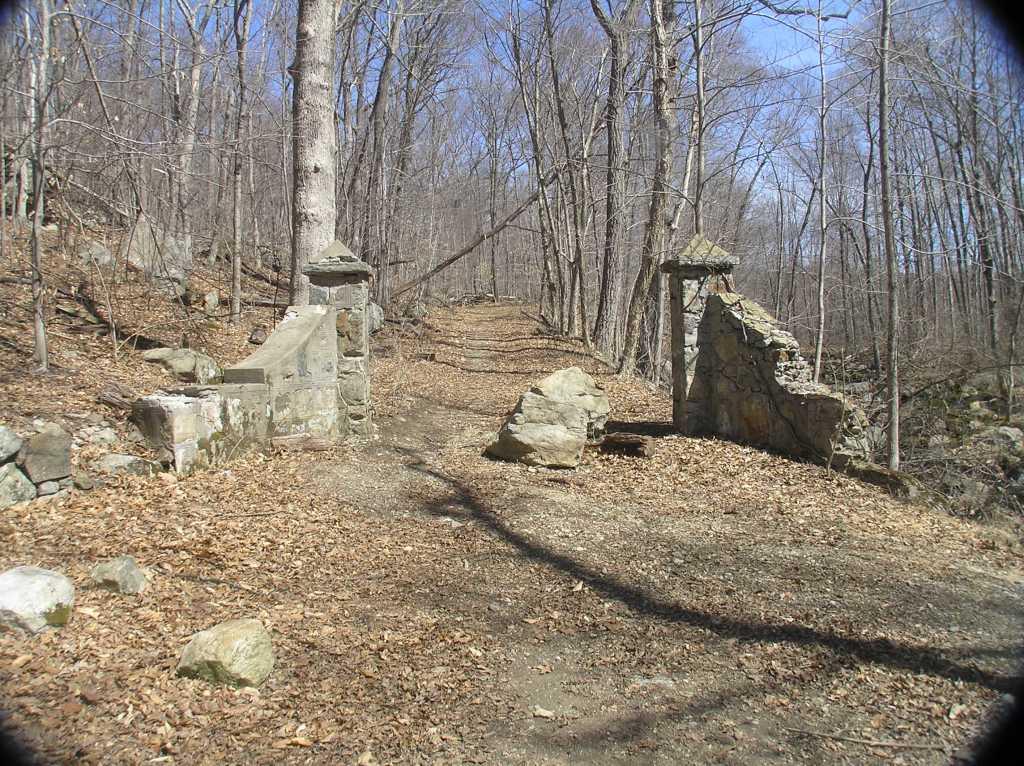 Pillars to the old Hubbard Mansion