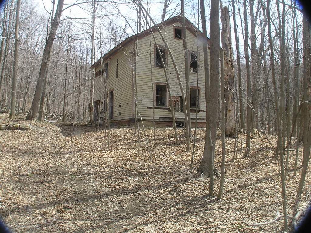 Abandoned house:  I detoured off the trail to investigate and as I approached something moved upstairs.  I decided not to go inside.